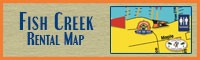 Fish Creek Boat & Jet Ski Rental Map
